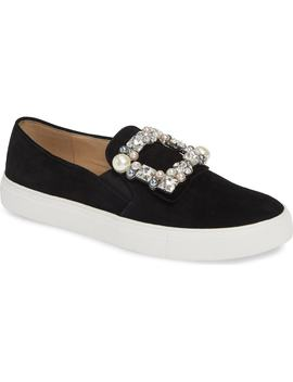 Evelyn Imitation Pearl Embellished Sneaker by Karl Lagerfeld Paris