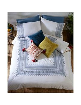Mw By Matthew Williamson   White 'skye' Embroidery Bedding Set by Mw By Matthew Williamson