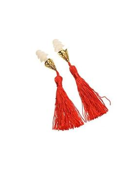 Breakfast At Tiffany's Inspired Tassel Earplugs In Red by Etsy