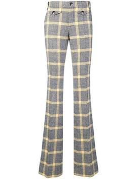 2000's Checked Bootcut Trousers by Gucci Vintage