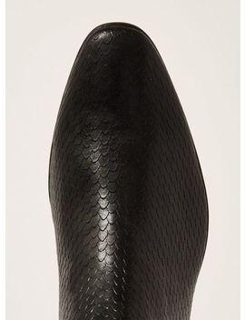 Black Fisco Croc Chelsea Boots by Topman