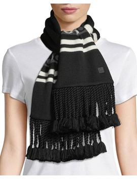 Moose Canuk Striped Scarf W/ Braids by Moose Knuckles