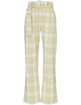 High Waisted Checked Trousers by Matériel