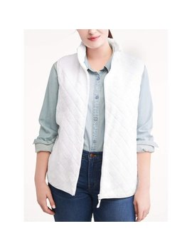 Time And Tru Women's Plus Size Quilted Sweater Vest by Time And Tru