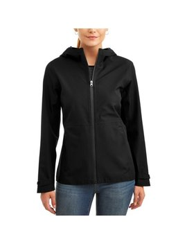 Time And Tru Women's Lightweight Rain Jacket by Time And Tru