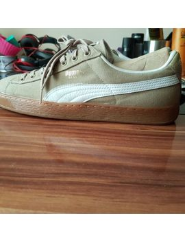 Mens Beige Canvas And Leather Puma Trainers Size 11uk New Other. by Ebay Seller