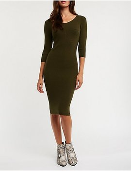 Ribbed Midi Bodycon Dress by Charlotte Russe