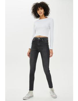 Extreme Washed Black Jamie Jeans by Topshop
