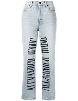 Cult Logo Embroidered Jeans by Alexander Wang