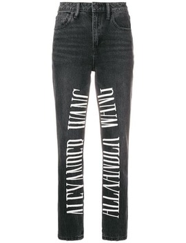 Embroidered Jeans by Alexander Wang