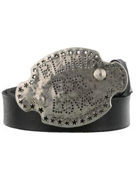 Nwt Gucci Blind For Love Buckle Black Leather Belt 80 32 New  $590 by Gucci