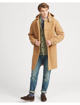 Wool Twill Hooded Duffel Coat by Ralph Lauren