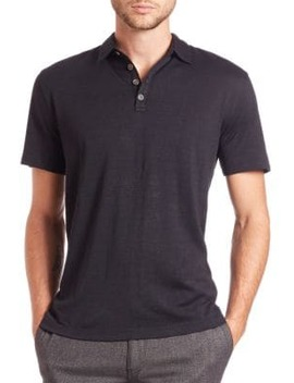 Silk & Cotton Polo by John Varvatos