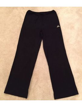 Adidas Womens Black Sports Wide Leg Joggers Running Trousers Size 12 by Ebay Seller