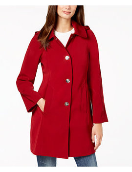 Hooded Snap Front Raincoat by London Fog
