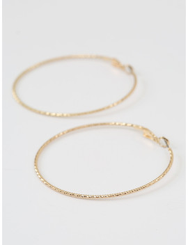 Altar'd State Diamond Cut Hoop Earrings In Gold by Altar'd State