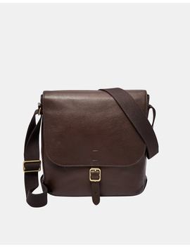 Buckner Dark Brown Ns City Bag by Fossil