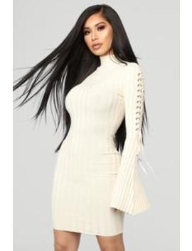 Next To Me Knit Dress   Ivory by Fashion Nova