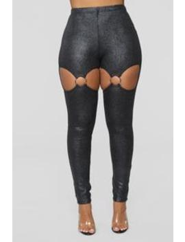 Oh What A Snake Leggings   Black by Fashion Nova