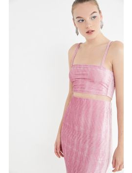 Uo Kimmy Velvet Cropped Tank Top by Urban Outfitters