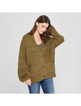 Women's Textured Button Cardigan   Universal Thread™ Olive by Universal Thread™