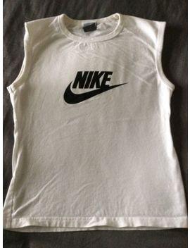 Women's / Girls Nike T Shirt Training Running Gym Yoga Vest White Size M 10 / 12 by Ebay Seller