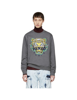 Grey Limited Edition Dragon Tiger Sweatshirt by Kenzo