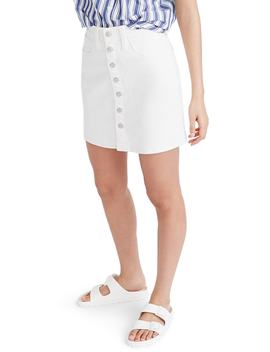 Button Front Straight Denim Skirt by Madewell