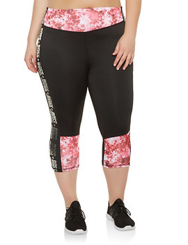Plus Size Boss Graphic Cropped Active Leggings Plus Size Boss Graphic Active Tank Top by Rainbow