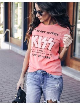 Kiss Vintage Cotton Concert Tee by Vici