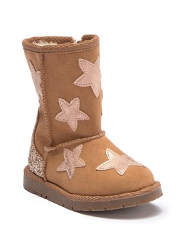 Glitter & Star Faux Fur Lined Boots (Toddler) by Harper Canyon