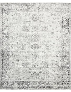 Gray 8' X 10' Ft Canterbury Rug Modern Traditional Vintage Inspired Overdyed Area Rugs by A2 Z Rug
