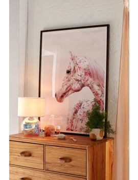 Paul Fuentes Floral Horse Art Print by Paul Fuentes