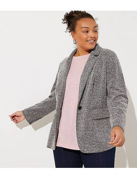 Loft Plus Brushed Knit Blazer by Loft
