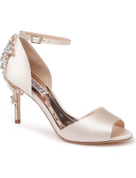 Vienna Crystal Embellished Ankle Strap Pump by Badgley Mischka