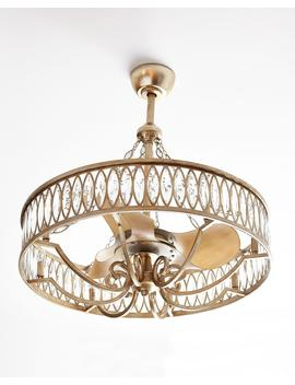 Crystal 8 Light Pendant With Fan by John Richard Collection