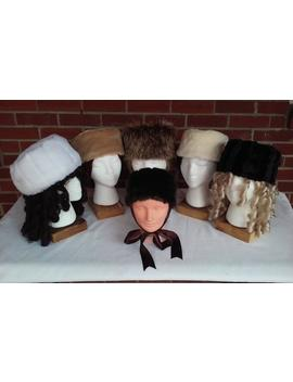 Ladies' And Girls' Faux Fur Pillbox Hats And Muffs In Six Colors by Etsy