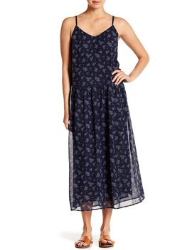 Calico Silk Floral Print Midi Dress by Vince