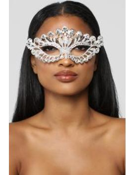 No Secrets Mask   Silver by Fashion Nova
