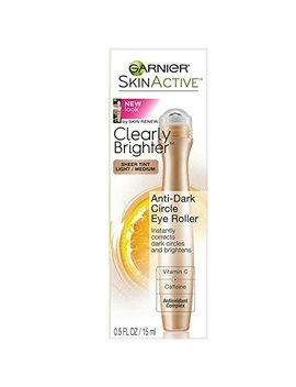 Garnier Skin Active Clearly Brighter Sheer Tinted Eye Roller, Light/Medium 0.5 Oz (Pack Of 6) by Garnier