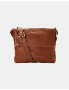 Spencer Leather Messenger Bag by Oxford