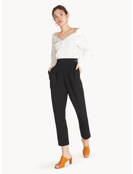 Semi Pleated High Waist Pants   Black by Pomelo
