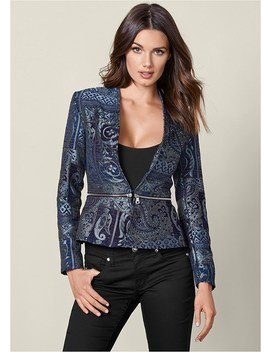 Paisley Print Jacket by Venus