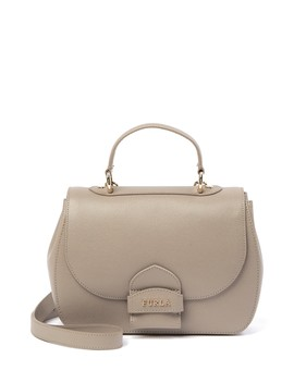 Coral Small Top Handle Leather Satchel by Furla