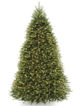 National Tree 9 Foot Dunhill Fir Tree With 900 Dual Led Lights And 9 Function Footswitch, Hinged (Duh 300 D 90) by National Tree Company
