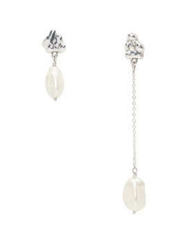 Silver Neb Drop Earrings by Faris