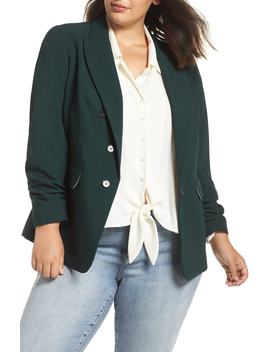 Ruched Sleeve Blazer by 1.State