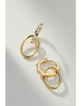 Sunshower Hugger Hoop Earrings by Anthropologie