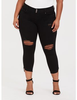Premium Stretch Stiletto Jegging   Distressed Black Wash by Torrid
