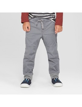 Toddler Boys' Reinforced Knee Jogger Fit Pull On Pants   Cat & Jack™ Gray by Cat & Jack™